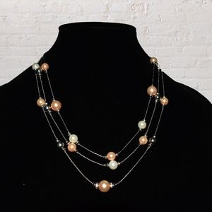 Jewelry - Faux Pearl Necklace and Earrings